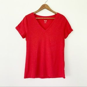 🌿Mossimo Red Short Sleeve V-Neck Tee
